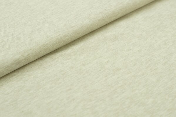 XXL Jersey Maya uni pastell beige melange