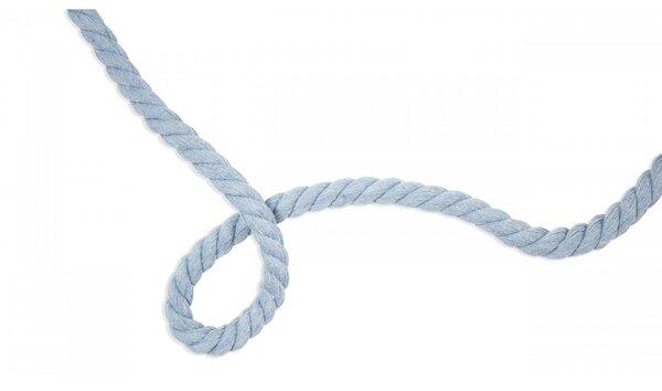 Dicke Baumwoll-Kordel gedreht rund uni hellblau 10 mm breit