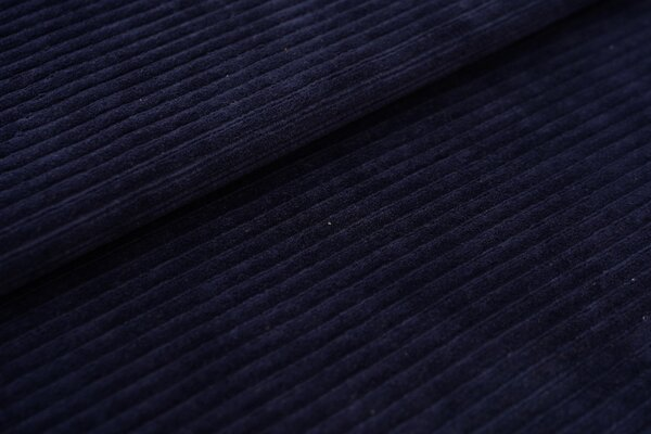 Breitcord Jersey uni navy dunkelblau