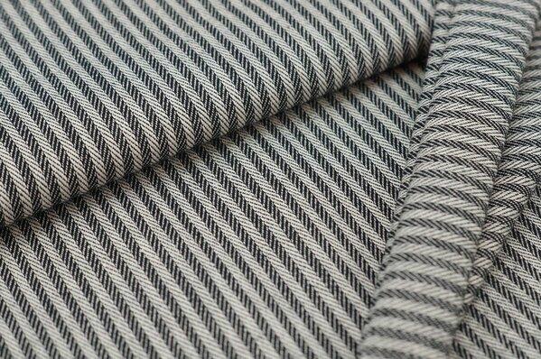 Canvas-Stoff Dekostoff Streifen Linien-Muster schwarz / weiß