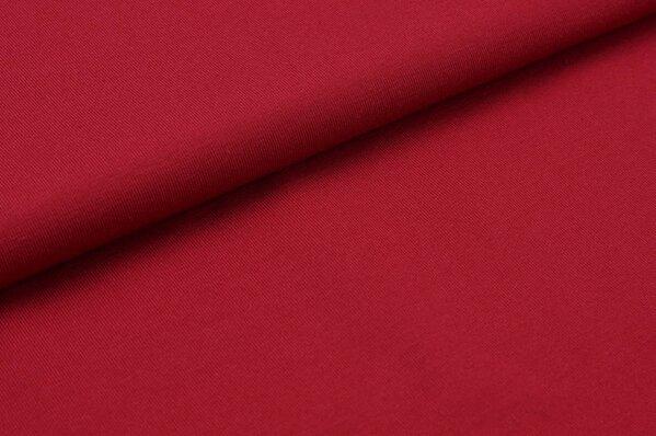 Baumwoll-Jersey uni dunkelrot