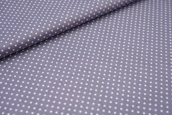 Baumwollstoff Baumwolle kleine Punkte silbergrau / weiß