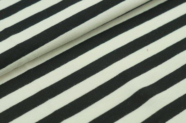 XXL Sommersweat MARIE Streifen groß schwarz creme
