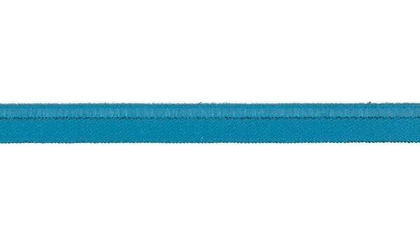 Elastisches Schimmer Paspelband türkis 10 mm