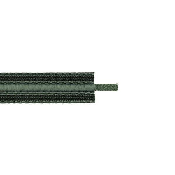 Kordelzug elastisches Zierband für Jogginghosen schwarz / armee grün 30 mm