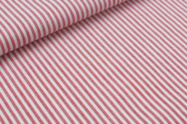 Baumwollstoff Baumwolle Streifen rot / weiß meliert