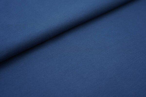 Baumwoll-Jersey einfarbig uni stahlblau