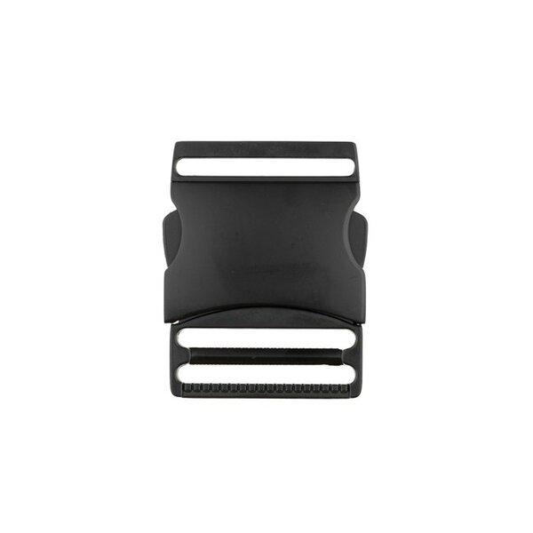 Metall Steckschließe 40 mm schwarz Steckschnalle Taschenverschluss