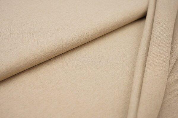 Baumwoll-Sweat Recycelt einfarbig uni beige meliert