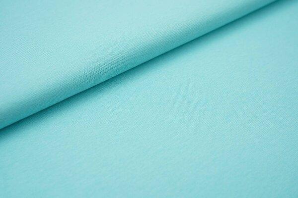 Glattes Organic Bündchen hell aqua blau