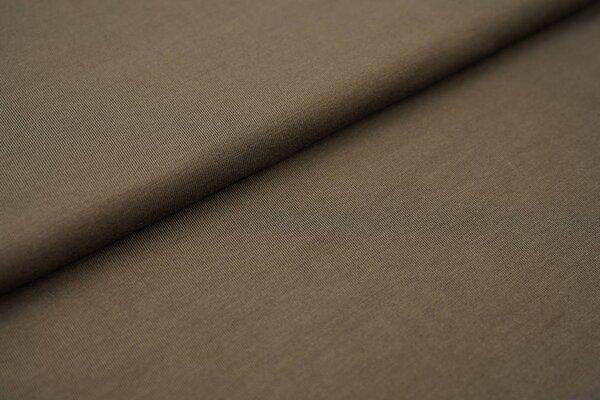 Weicher Bambus-Jersey uni dunkelbraun