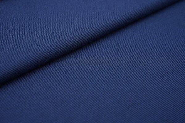Baumwoll-Jersey Mini-Streifen Ringel taupe blau / dunkelblau