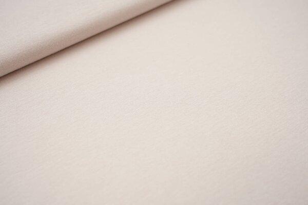 Sommer T-Shirt-Stoff / leichter Jersey uni hell beige