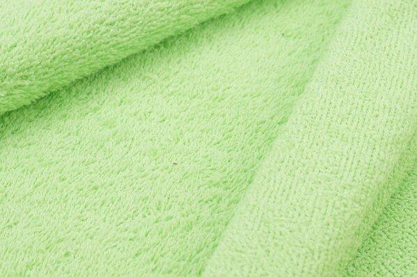 Frottee Stoff uni hellgrün