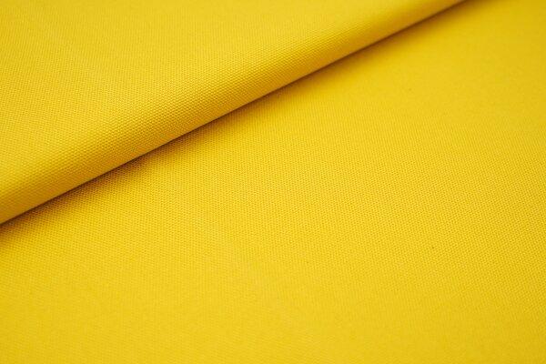 Canvas-Stoff Baumwoll Dekostoff einfarbig uni gelb