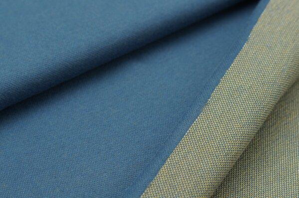 Jacquard-Sweat Ben taupe blau Uni mit taupe blau senf und off white Rückseite