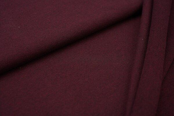 Baumwoll-Sweat Recycelt einfarbig uni bordeaux weinrot meliert