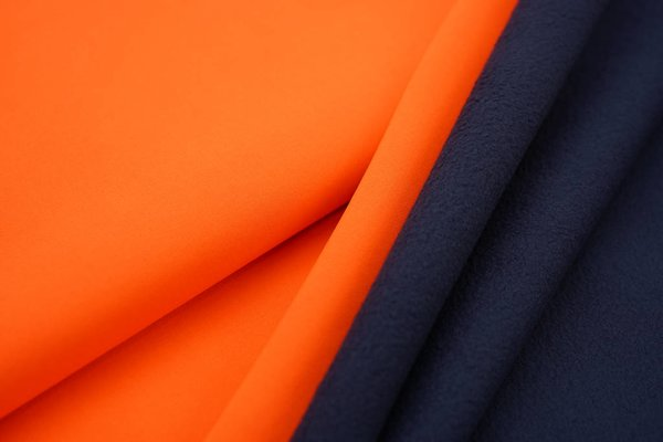 Softshell-Stoff uni neon orange