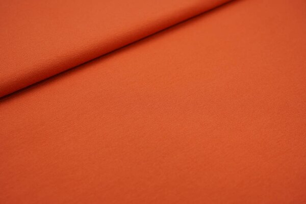 Baumwoll-Jersey uni rostorange