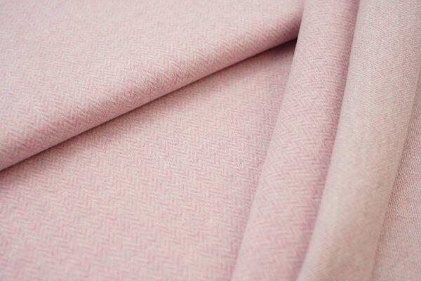 Kuschel Jacquard-Sweat Moritz mit Fischgrätenmuster pastell pink / pastell mint Melange