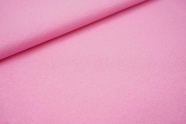 Glattes Glitzer Bündchen hell pink mit silber