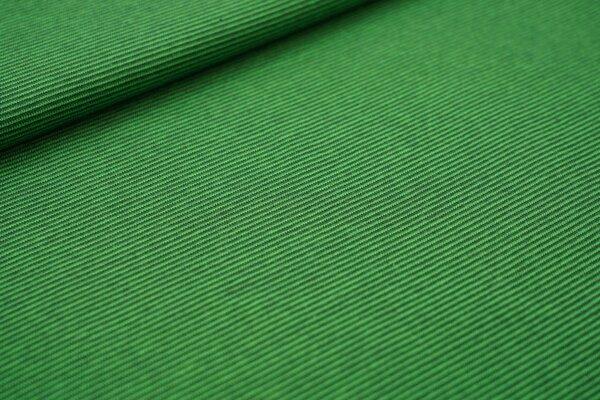 Baumwoll-Jersey Mini-Streifen Ringel dunkel moosgrün / apfelgrün