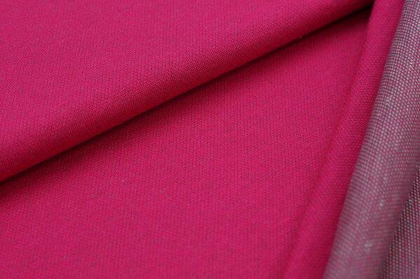 Jacquard-Sweat Ben amarant pink Uni mit dunkelgrauer und hellgrauer Rückseite