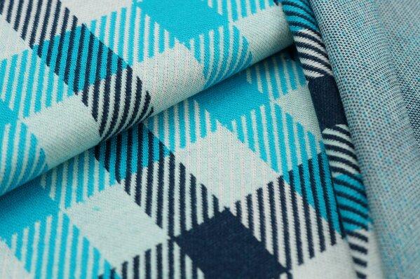 Jacquard-Sweat Ben Karos navy blau / türkis / off white / hell mint