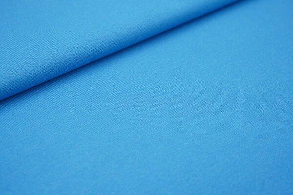Glattes Glitzer Bündchen aqua blau mit silber