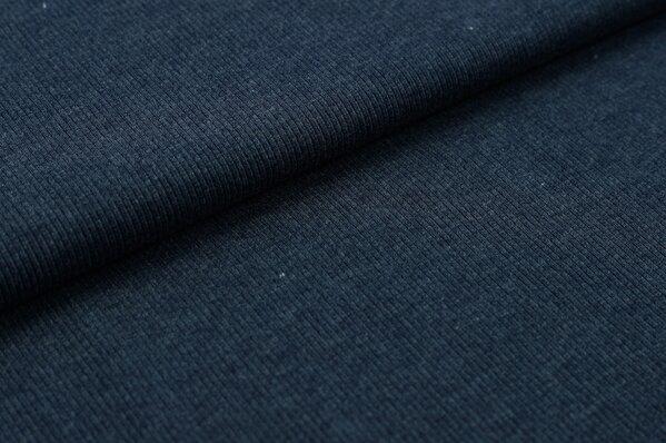 XXL Bündchen LILLY gerippt Schlauchware jeansblau meliert