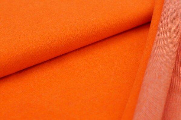 Kuschel Jacquard-Sweat Max Uni orange mit rot