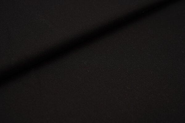 Canvas-Stoff Dekostoff einfarbig uni schwarz