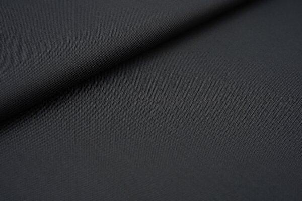 Canvas-Stoff Baumwoll Dekostoff einfarbig uni dunkelgrau