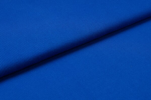 XXL Bündchen LILLY gerippt Schlauchware royalblau königsblau