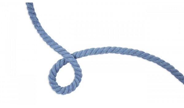 Dicke Baumwoll-Kordel gedreht rund uni jeansblau 10 mm breit