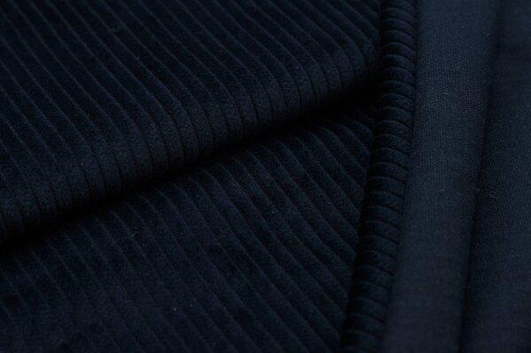 Breitcord Stoff uni sehr dunkelblau