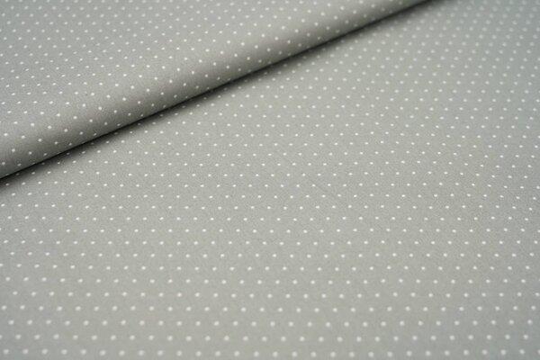 Baumwolle weiße Punkte auf hell schlammgrau