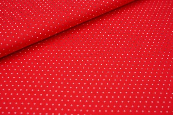Baumwolle kleine weiße Punkte auf rot maritim