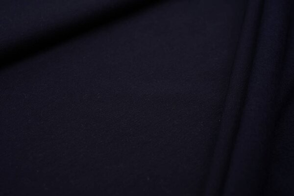Kuscheliger Baumwoll-Sweat EIKE uni dunkelblau French Terry