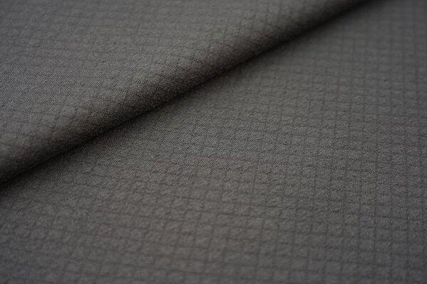 Baumwoll Stepp-Stoff uni mit Rauten Muster Double Face schwarz