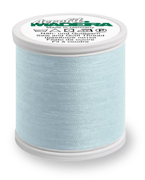 Madeira Nähgarn Aerofil No. 35 extra stark Farbe 9320 babyblau