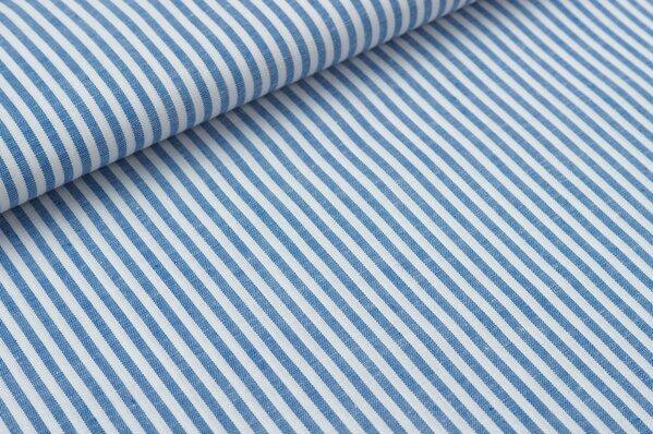 Baumwollstoff Baumwolle Streifen blau / weiß meliert
