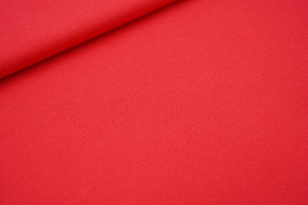 Baumwoll-Jersey mit Struktur Piqué Stoff uni hell rot