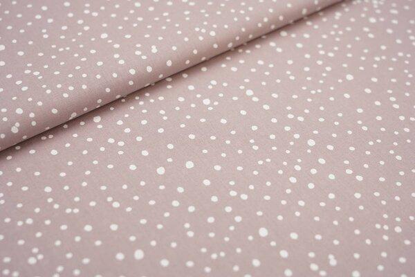 Baumwoll-Stoff unregelmäßige Punkte pastell violett / weiß