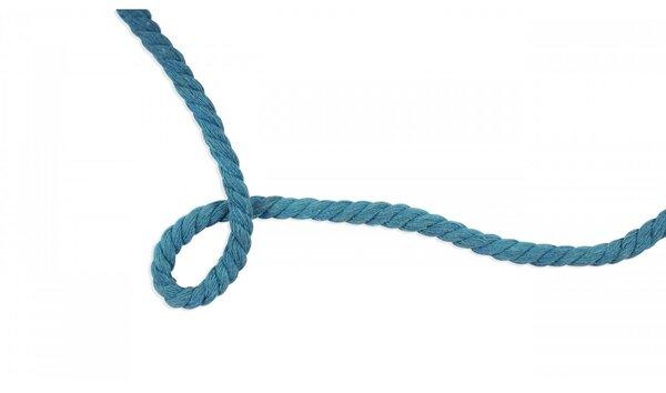 Baumwoll-Kordel gedreht rund uni türkis 8 mm breit