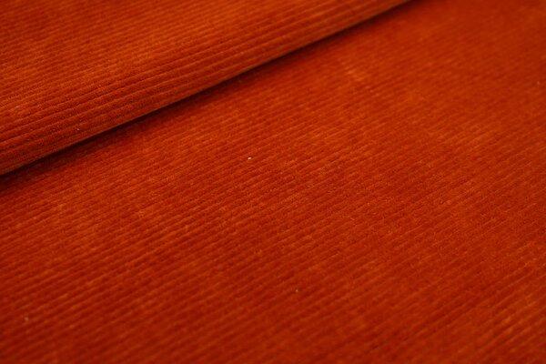 Cord-Jersey schmal uni rostorange