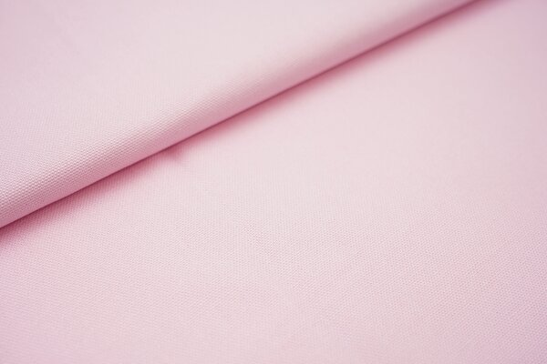 Canvas-Stoff Baumwoll Dekostoff einfarbig uni babyrosa