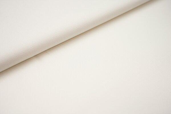 Canvas-Stoff Baumwoll Dekostoff einfarbig uni off white weiss