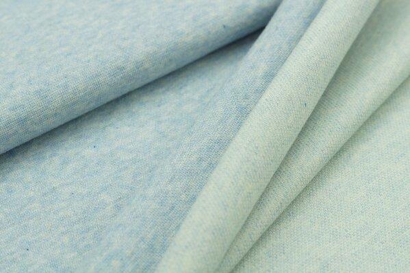 Jacquard-Sweat Mia uni pastell hellblau Melange off White mint