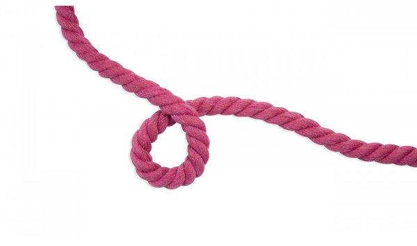 Dicke Baumwoll-Kordel gedreht rund uni beere pink 10 mm breit